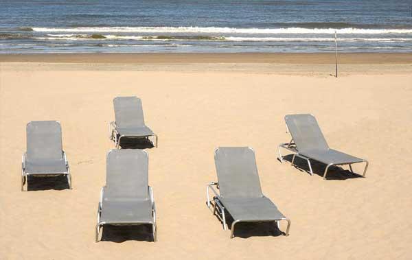 coach jezelf op een rustig strand